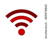 wi fi symbol icon on white... | Shutterstock .eps vector #489878860