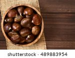 Chestnuts In Wooden Bowl ...