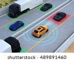 concept illustration for auto... | Shutterstock . vector #489891460