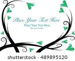 vector heart shape with... | Shutterstock .eps vector #489895120