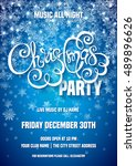 merry christmas party poster... | Shutterstock .eps vector #489896626
