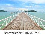 """wooden bridge name is """"asadang...   Shutterstock . vector #489901900"""