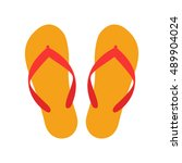 beach slippers icon   vector | Shutterstock .eps vector #489904024