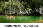 palawan philippines febraury... | Shutterstock . vector #489906358