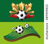 sport equipment icon vector... | Shutterstock .eps vector #489909823