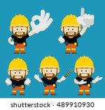 vector illustration   cartoon... | Shutterstock .eps vector #489910930