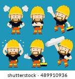 vector illustration   cartoon... | Shutterstock .eps vector #489910936