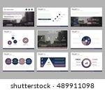 purpe abstract presentation... | Shutterstock .eps vector #489911098