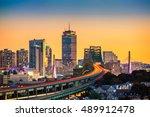 rush hour traffic on tobin... | Shutterstock . vector #489912478