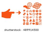 index hand pictograph with...