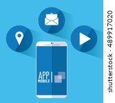 apps and smartphone gadget | Shutterstock .eps vector #489917020