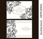 vintage delicate invitation... | Shutterstock .eps vector #489918904