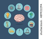 science related icons image | Shutterstock .eps vector #489922294