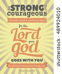 vintage bible verse background... | Shutterstock . vector #489924010