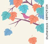vector illustration of tree...   Shutterstock .eps vector #489929104