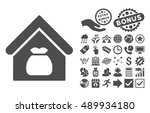 harvest warehouse pictograph... | Shutterstock .eps vector #489934180