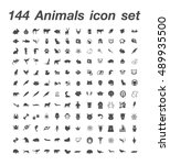 144 animals icon set | Shutterstock .eps vector #489935500