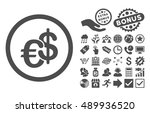 euro and dollar currency... | Shutterstock .eps vector #489936520