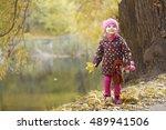 Cute Little Girl Standing Near...