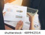 business work concept planning  ... | Shutterstock . vector #489942514