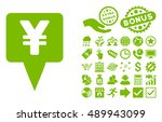 yen map pointer pictograph with ... | Shutterstock .eps vector #489943099