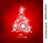 christmas tree made of... | Shutterstock .eps vector #489943954