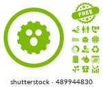 surprized gear smiley icon with ...   Shutterstock .eps vector #489944830