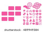 calendar grid pictograph with... | Shutterstock .eps vector #489949384