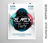 remix club party flyer poster...   Shutterstock .eps vector #489956038