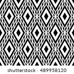 black and white color optical... | Shutterstock .eps vector #489958120