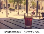 soft drink on a table of a... | Shutterstock . vector #489959728