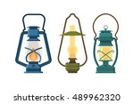 vintage oil lantern set...