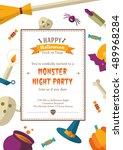 happy halloween background | Shutterstock .eps vector #489968284
