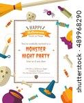 happy halloween background | Shutterstock .eps vector #489968290