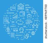 vector line concept for banking....   Shutterstock .eps vector #489969700