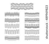 guilloche vector borders set... | Shutterstock .eps vector #489969823