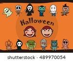 halloween poster. vector...   Shutterstock .eps vector #489970054