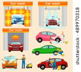 car wash services  auto... | Shutterstock .eps vector #489970318