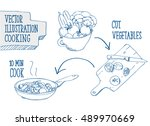 set of different icons for... | Shutterstock .eps vector #489970669