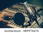 professional condenser studio... | Shutterstock . vector #489974674