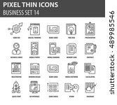 thin line flat icons pack for... | Shutterstock .eps vector #489985546
