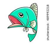 cartoon fish  vector | Shutterstock .eps vector #489992218