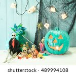 Teal Pumpkin Jack O' Lantern...