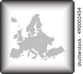 map of europe | Shutterstock .eps vector #490002454
