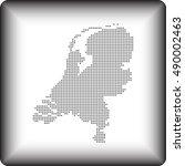 map of netherlands   Shutterstock .eps vector #490002463