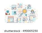 line icons design illustration... | Shutterstock .eps vector #490005250