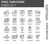 thin line flat icons pack for...   Shutterstock .eps vector #490012843