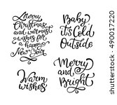 set of hand drawn vector quotes.... | Shutterstock .eps vector #490017220