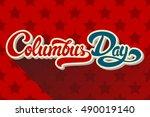 columbus day hand drawn...   Shutterstock .eps vector #490019140