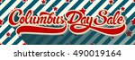 columbus day sale hand drawn...   Shutterstock .eps vector #490019164
